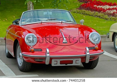 MOSCOW - AUGUST 08: Vintage car Porsche-Convertible-D-1958 is on display annual international event - VI Moscow Festival Retrostyle in Le Meridien Moscow County Club August 08, 2008 in Moscow, Russia - stock photo