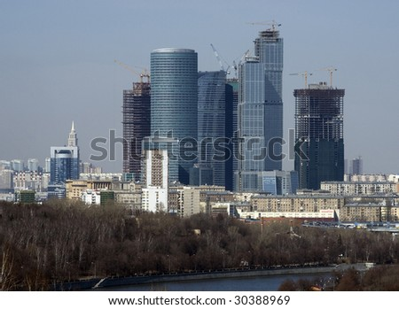 Moscow-city - stock photo