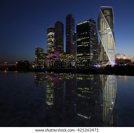 Moscow City Skyscrapers, Russia