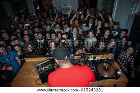 Moscow 19 December2015 Famous Hip Hop Stock Photo 610302854