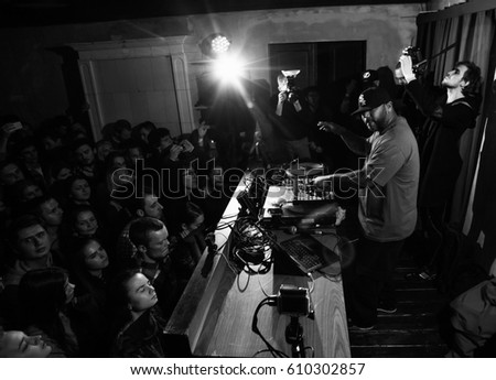 Moscow 19 December2015 Famous Hip Hop Stock Photo 610302857