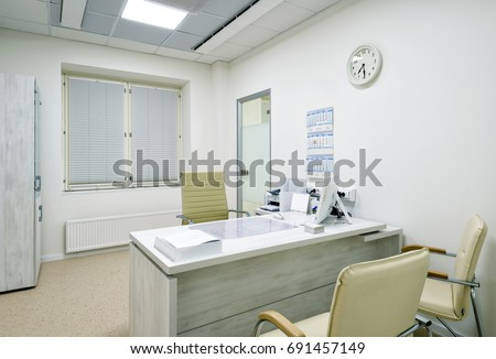 modern doctors office. moscow december 14 2016 modern interior of doctors office in a o