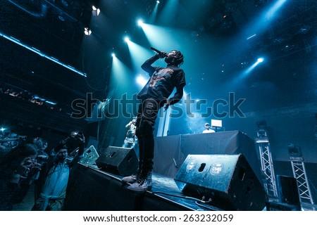 MOSCOW - 6 December, 2014: Travis Scott at Glavclub  - stock photo