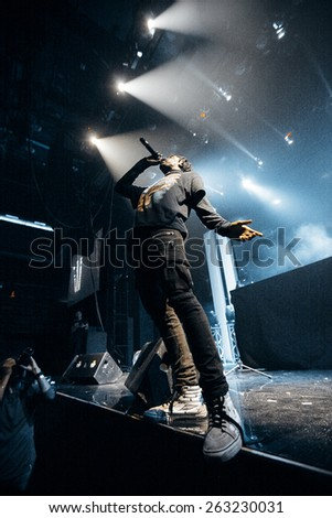 MOSCOW - 6 December, 2014 : Travis Scott performing at Glavclub