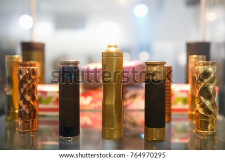 MOSCOW-9 DECEMBER,2016:Vape Expo event.Buy newest electronic cigarette device for vaping.