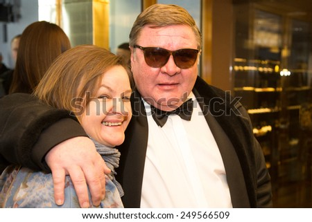 MOSCOW - JANUARY, 28: Actors R. Medyanov.  Premiere of the movie Leviathan at Moscow Cinema,  January, 28, 2015 in Moscow, Russia - stock photo