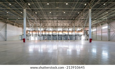 MOSCOW - JULY 22: A big modern storage room on july 22, 2014 in Moscow. Moscow is a modern city with well-developed logistics infrastructure.