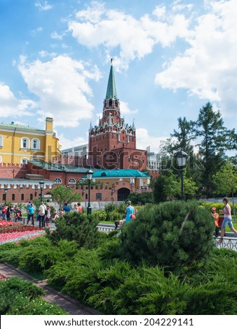 MOSCOW - July 07, 2014: Moscow Kremlin