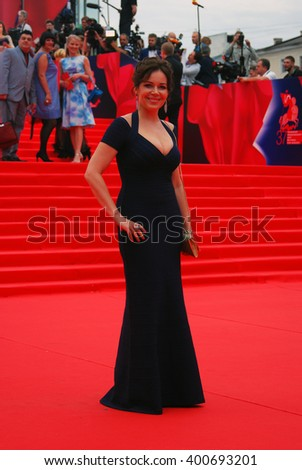MOSCOW - JUNE 19, 2015: Actress Ekaterina Rednikova at XXXVII Moscow International Film Festival red carpet opening ceremony.