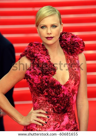 MOSCOW - JUNE 19: Charlize Theron  before holding a press conference , prior to the Russian premiere of 'Hancock' on XXX Moscow film festival on June 19, 2008 in Moscow. - stock photo