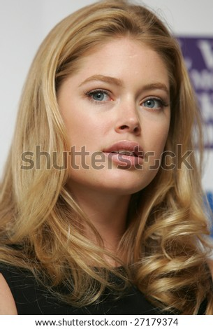 MOSCOW - MARCH 21: Dutch top model Doutzen Kroes attends a news conference during Fashion Week March 21, 2009 in Moscow, Russia.