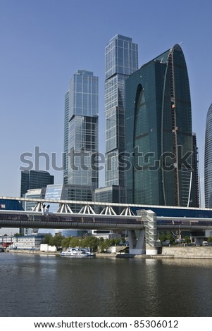 MOSCOW - MAY 23: Business center Moscow-city - one of grandiose modern construction projects of the world in 21 century, built from 2004 till 2011 on May 23, 2010 in Moscow.