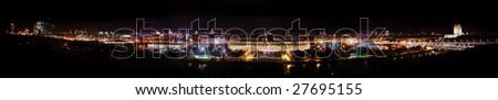 Moscow night view, Luzhniki - stock photo