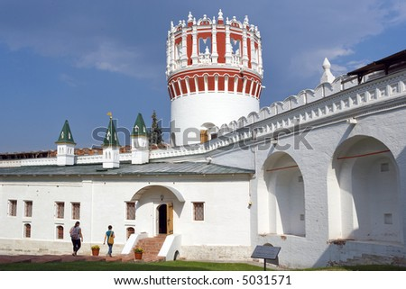 Moscow, Novodevichy Convent and Cemetery - stock photo