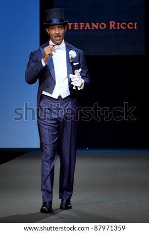 MOSCOW - OCTOBER 26: Model on podium during show of Stefano Ricci Collection as part of Fashion Week,, on October 26, 2011, Moscow, Russia