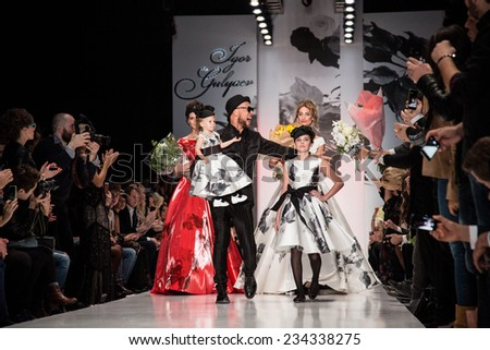 MOSCOW - OCTOBER 26: Russian designer Igor Gulyaev. Mercedes-Benz Fashion Week Russia on October 26, 2014 in Moscow, Russia. - stock photo
