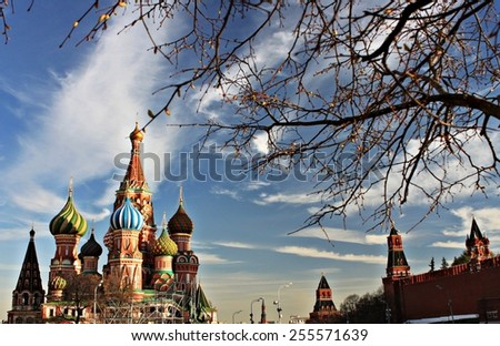 Moscow Red Square in spring - stock photo