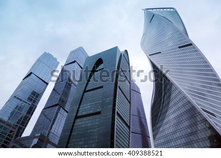 MOSCOW, RUSSIA - APRIL 16 : Moscow International Business Center on April 16,2016 in Moscow,Russia. It is expected to combine business activity,living space and entertainment in one single development