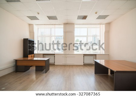 MOSCOW, RUSSIA - August 4, 2015 - Empty office interior