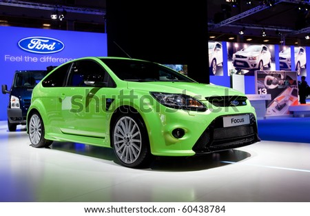 MOSCOW, RUSSIA - AUGUST 26: Ford Focus is presented on 26 August 2010, Moscow, Russia. Moscow International Autosalon is the largest in Eastern Europe - stock photo