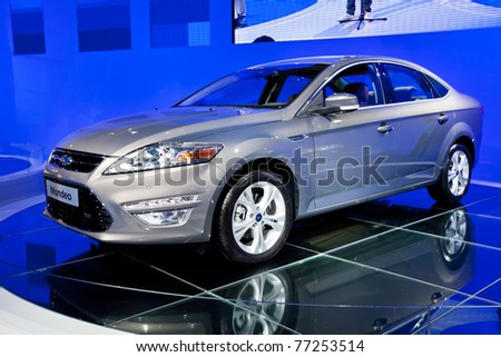MOSCOW, RUSSIA - AUGUST 25:  Grey car Ford Focus on display at Moscow International exhibition InterAuto on August 25, 2010 in Moscow, Russia.