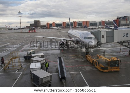 MOSCOW, RUSSIA - CIRCA SEPTEMBER 2013: Sheremetyevo International Airport in Moscow circa September 2013 in Moscow.