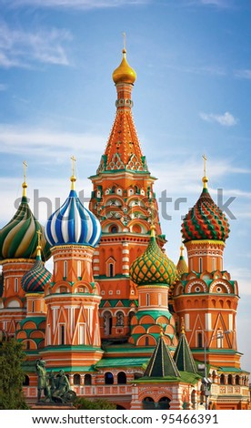 Moscow, Russia, famous Saint Basil's cathedral
