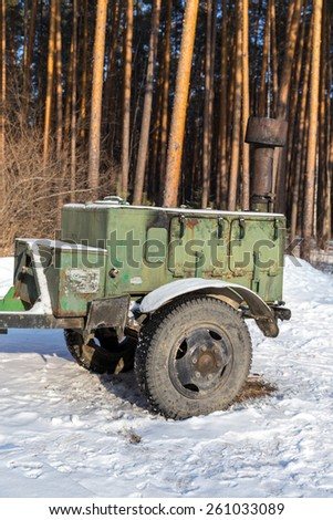 MOSCOW, RUSSIA - FEBRUARY 08, 2015: Army field kitchen