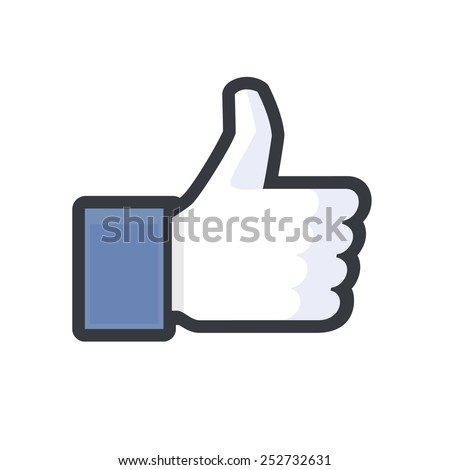 MOSCOW, RUSSIA - FEBRUARY 14, 2015: Facebook like logo for e-business, web sites, mobile applications, banners, corporate brochures, book covers, etc printed on white paper - stock photo