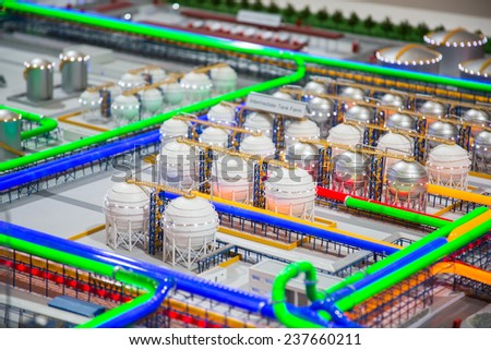 MOSCOW, RUSSIA, JUNE, 16: Exhibition booth. Oil and gas industry in powerful. 21st World Petroleum Congress, June, 16, 2014 at Crocus Expo  in Moscow, Russia - stock photo