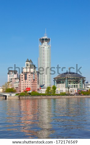 MOSCOW, RUSSIA - MAY 6, 2012: Moscow International House of Music . It was opened on September 28, 2003. House consists of 3 concert halls - Svetlanov, Chamber and Theater