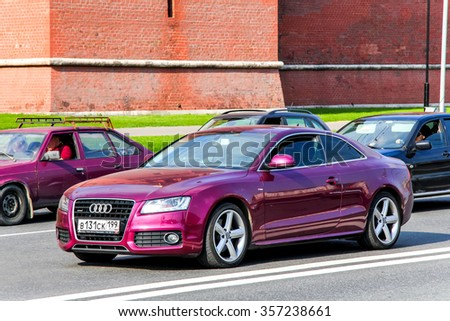 MOSCOW, RUSSIA - MAY 5, 2012: Motor car Audi A5 in the city street. - stock photo