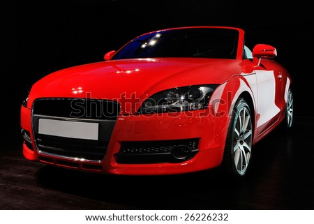 "MOSCOW, RUSSIA - MAY 29: Red Audi TT at exhibition of exclusive cars ""Excars 2008"", Moscow, Russia, 29 May 2008 - stock photo"