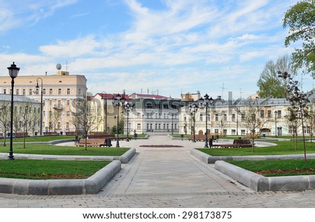 Moscow, Russia, May, 09, 2015, Russian scene: Nobody, Khitrovskaya square