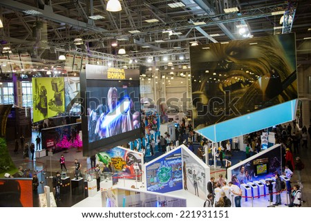 MOSCOW, RUSSIA, October 2: Comic Con Russia 2014 at The Crocus Center on October 2, 2014 in Moscow, Russia. - stock photo