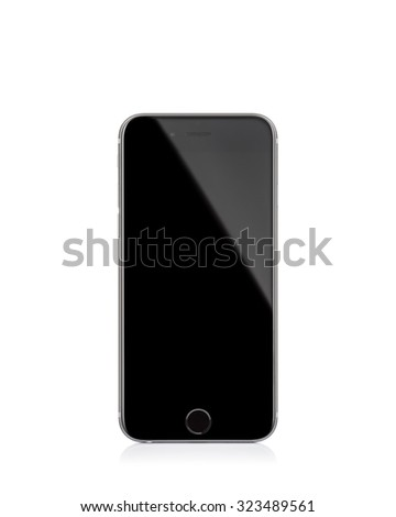 MOSCOW, RUSSIA - OCTOBER 04, 2015: New iPhone 6 s is a smartphone developed by Apple Inc. Apple releases the new iPhone 6 s and iPhone 6 s Plus - stock photo