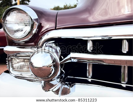 """MOSCOW, RUSSIA - SEPT 24: A 1953 Cadillac Eldorado in the final stage of the competition for classic cars at the """"Closing  of the season Rally Retro Car"""" on September 24, 2011 in Moscow, Russia - stock photo"""