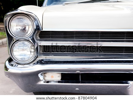 """MOSCOW, RUSSIA - SEPT 24: A 1962 Pontiac Bonneville in the final stage of the competition for classic cars at the """"Closing  of the season Rally Retro Car"""" on September 24, 2011 in Moscow, Russia - stock photo"""