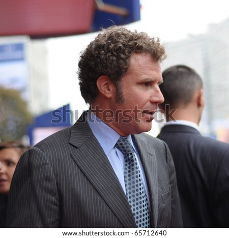 MOSCOW, RUSSIA - SEPTEMBER 12: Actor Will Ferrell arrives at the premiere for the film 'The Other Guys' in Moscow on September 12, 2010, Russia. - stock photo