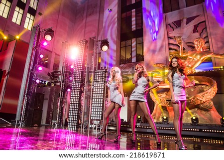 MOSCOW, RUSSIA, September, 20: Music band VIA Gra. Opening Ceremony Vegas Shopping Mall, 20, 2014 at Vegas Center in Moscow, Russia - stock photo