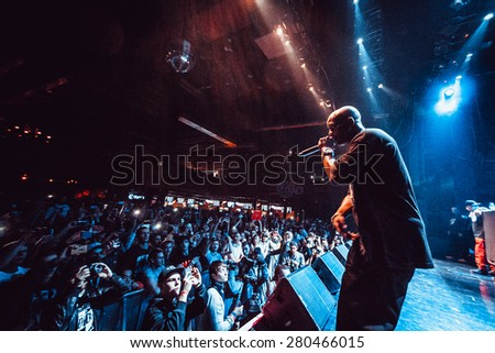 MOSCOW - 18 SEPTEMBER, 2014 : Earl Simmons aka DMX performing live at Glavclub  in Russia - stock photo