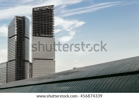 Moscow skyscrapers.
