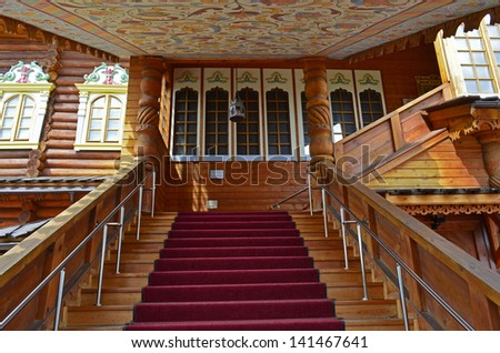 Moscow. Wooden palace in Kolomenskoe