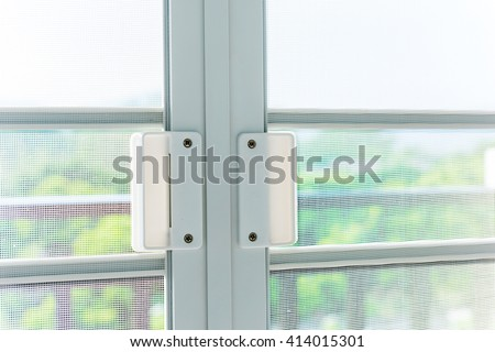 Mosqito window screen - stock photo