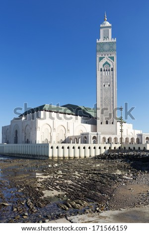 Mosque Hassan II in Casablanca, Morocco - stock photo