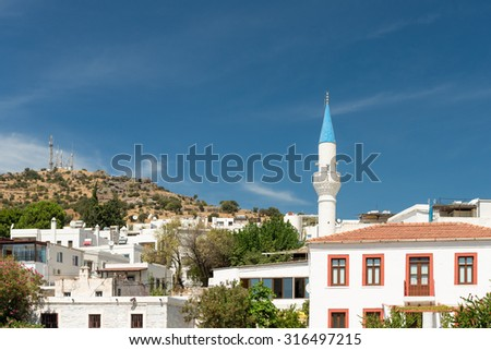 Mosque in Bodrum, turkey - stock photo