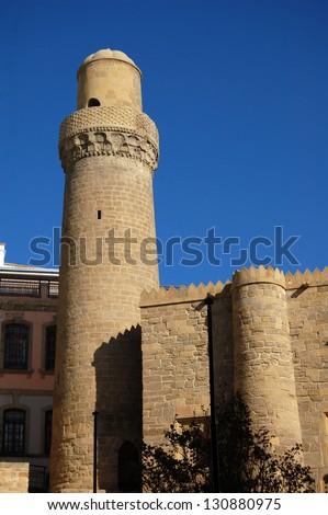 Mosque in Ichari Shahar - Inner city of Baku - stock photo