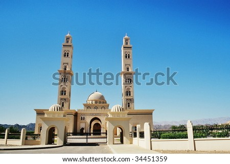 mosque in Oman - stock photo