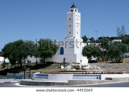 mosque in Sidi Bou Said near Tunis Tunisia North Africa