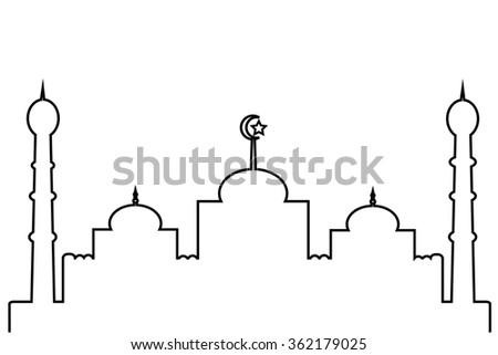 Mosque - Lines   - stock photo